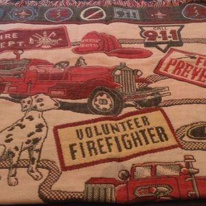 Firefighter Knit Blanket